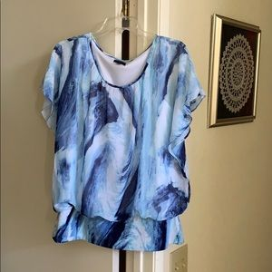 Blue Swirl Top